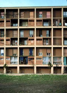 INA Casa Harrar/Figini, Milan // by Figini, Luigi & Gino Pollini Social Housing, Grid Design, Luigi, Modern Architecture, Milan, Exterior, Italy, Places, House