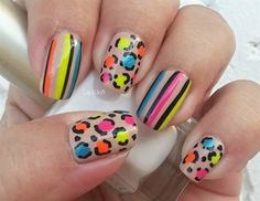 Neon (neon nails) (nail art) (cute nails) #nailart #nails #naildesigns #nailartideas #neonnails