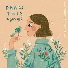 Likes, 57 Comments - Alona Millgram Illustrators On Instagram, Go Outside, Cute Art, Instagram Fashion, Your Style, The Outsiders, Artsy, Photo And Video, Drawings