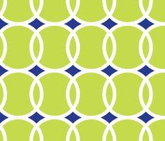 Tennis Ball Geometric fabric by mariafaithgarcia on Spoonflower - custom fabric
