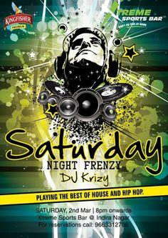 Saturday Night Frenzy, Xtreme Sports Bar - Indiranagar, Bangalore