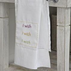 Toalha de lavabo I Wish #AlfaiasCasa