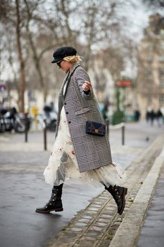 11 Street Style Stars Willing To Get The Flu For the Sake of Fashion - In tulle from InStyle.com