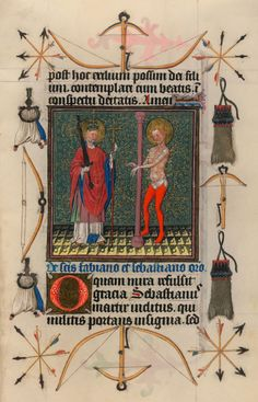 SS. Fabian and Sebastian   Hours of Catherine of Cleves   Illuminated Manuscript   ca. 1440   The Morgan Library & Museum