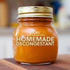 How to Make Homemade All-Natural Spicy Cider Decongestant and Expectorant. If you are suffering from an illness such as a cold or sinusitis and not just allergies, chances are your chest is congested with extra mucous as well. Here's an all-natural decongestant and expectorant to save the day (and night) of nasal discomfort.