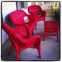 Merveilleux 38 Best Red Wicker Images On Pinterest | Wicker, Chairs And Chaise Lounge  Chairs.
