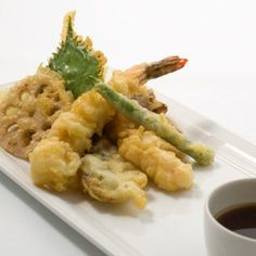 Tempura Batter Recipe ▪ Shrimp Tempura Recipe                  1). Don't overmix the batter. When you stir in the water, mix very gently just until the dry ingredients are moistened. Don't attempt to work out the lumps, or the batter will become heavy.                  2). Be sure the water you mix in is very cold. This will make a cold b...