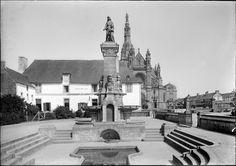 Le sanctuaire avant 1950 // Sanctuaire de Sainte-Anne d'Auray: premier lieu de pélerinage breton, où Sainte Anne, la grand-mère de Jésus, apparut à un laboureur, Yvon Nicolazic. // #SaintAnne #France