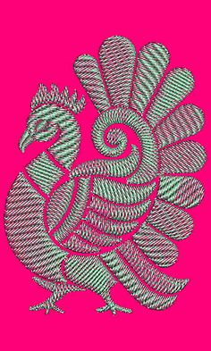 Applique Embroidery Design 18724 Peacock Embroidery Designs, Embroidery Flowers Pattern, Applique Embroidery Designs, Aari Embroidery, Embroidery Works, Hand Embroidery Stitches, Cutwork Blouse Designs, Outline Designs, Fabric Painting