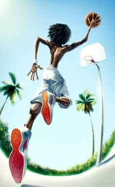 Basketball by Anton Vodogreev Arte Do Hip Hop, Hip Hop Art, Basketball Drawings, Basketball Art, Arte Dope, Dope Art, Black Love Art, Black Girl Art, African American Art