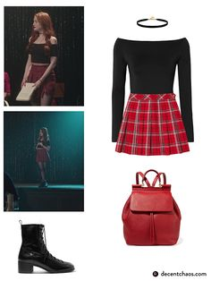 Cheryl Blossom Inspired Outfit Pop off Cher. Cheryl Blossom Riverdale, Riverdale Cheryl, Teen Fashion Outfits, Outfits For Teens, Fall Outfits, Capsule Outfits, Capsule Wardrobe, Riverdale Halloween Costumes, Blossom Costumes