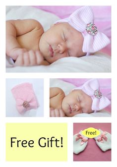 NEWBORN GIRL take home outfit newborn beanie white and pink beanie with bow photo hat newborn hospital hat girl newborn easter baby by PinkandBlueBonnets on Etsy https://www.etsy.com/listing/231683032/newborn-girl-take-home-outfit-newborn