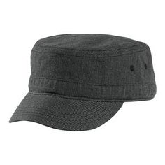 fbf32f3d34bf16 Buy the District - Houndstooth Military Hat Style DT619 from  SweatShirtStation.com, on sale now for $9.98 #black #charcoal #military #cap  #hat #brim