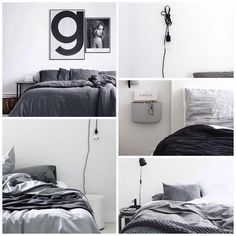 "Scandinavian Homewares on Instagram: ""I made a mood board today for the kind of bedroom look I'm after: It's resoundingly grey it's fair to say """