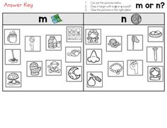 Beginning Sounds M and N Sort Worksheet Distance Learning by LearnersoftheWorld