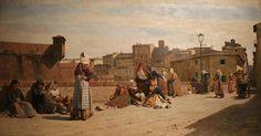 Eugenio Cecconi (Livorno, 1842 - Firenze, 1903) Le cenciaiole livornesi, 1880 Dimensioni 88x170 cm Livorno, Museo Giovanni Fattori