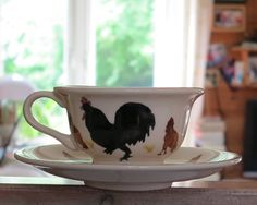 Emma Bridgewater Black Cockerel cup & saucer--I love this!! KR
