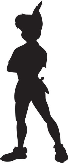 Peter Pan Silhouette. Contour cut Vinyl Decal Sticker. medium 15cmin height. These decals can stick to any clean dry surface. many other colours and sizes available upon request.   eBay!