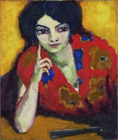 Kees van Dongen, Finger on Her Check, 1910, Oil on canvas, 65 x 54 cm, Museum…