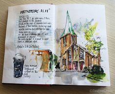 Liz Steel: Everyday Pages: Walking to and from work and some new tools