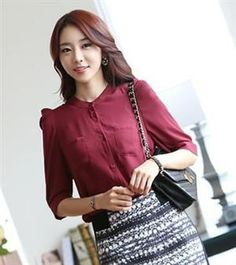 New Arrival Fold Design Korean Blouse