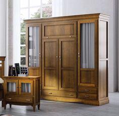#Armarios roperos #clásicos en internet, la mejor opción se llama rustico colonial, visitanos en: http://rusticocolonial.es/mueble-clasico/muebles-de-dormitorio-clasicos/armarios-cl%C3%A1sicos/armario-4-puertas-blanco-detail