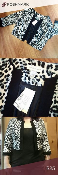 Nwt! Christopher & Banks leopard cardigan This is awesome and super comfy and soft,  tags still attached,  dress up or down as shown! Christopher & Banks Tops