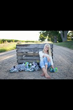 Senior picture idea minus all the shoes with a name and graduation year
