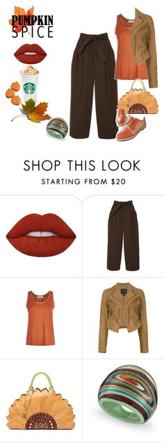 """""""look 373"""" by lucianatsd on Polyvore featuring moda, Lime Crime, Tome, Sandro, Paige Denim, Tema e pss"""