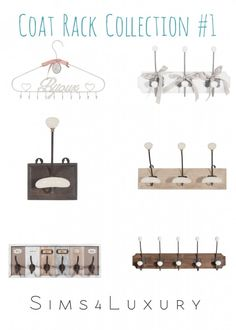 Sims4Luxury: Coat Rack Collection 1 • Sims 4 Downloads