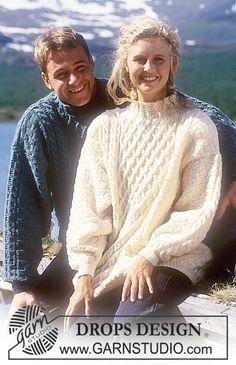 DROPS Sweater i Karisma med struktur og snoninger Gratis opskrifter fra DROPS Design.
