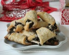Cream Cheese Chocolate Croissant Cookies-perfect for gift giving!