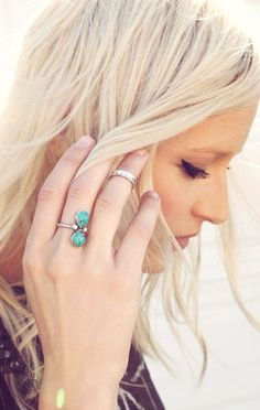 Love this Turquoise Ring. Want to start wearing more jewelry again!