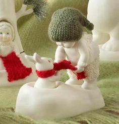 snow bunny figurines  | New Dept 56 Snowbabies Figurine Rabbit Bunny Snow Baby Statue ...