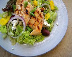 Greek Salad with Lemon-Garlic Chicken