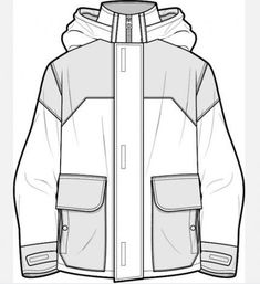 Dead End - Sketch Templates - Ideas of Sketch Templates - Jacket flat sketch Fashion Illustration Sketches, Fashion Sketchbook, Fashion Design Sketches, Drawing Fashion, Clothing Templates, Clothing Sketches, Fashion Design Template, Velvet T Shirt, Flat Sketches