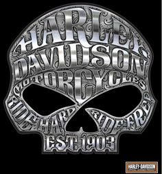 HARLEY DAVIDSON MOTORCYCLE WILLIE G SKULL CHROME DECAL MADE IN THE USA | Collectibles, Transportation, Motorcycles | eBay!