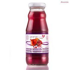 Zumo de granada / Extracto de granada - Zumo de granada puede ejercer efectos beneficiosos sobre la evolución de las complicaciones vasculares Hot Sauce Bottles, Food, Juices, Natural Remedies, Recipes, Meals