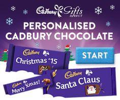 Personalised Cadbury Chocolate delivered