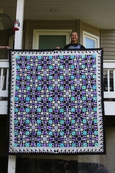 My biggest accomplishment!!!!! Bonnie Hunter's pattern, Orca Bay.