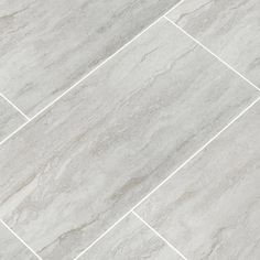 MSI Nyon Gray 12 in. x 24 in. Polished Porcelain Floor and Wall Tile sq. / - The Home Depot Grey Bathroom Floor, Grey Floor Tiles, Ceramic Floor Tiles, Grey Flooring, Grey Bathrooms, White Bathroom, Kitchen Flooring, Wall Tiles, Porcelain Floor