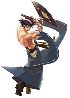 Anji Mito - Character design and Art - Guilty Gear Isuka
