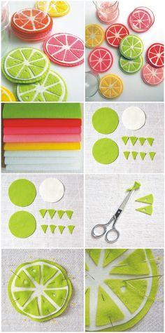 porta copos de limão