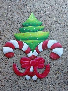 Christmas Tree Fleur de Lis