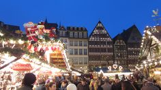 Frankfurt Germany Christmas Market | some of the weihnachtsmarkt by twilight. pictures don't do it justice.