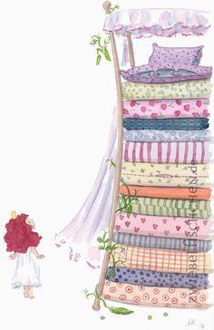 Die kleine Prinzessin wunderte sich sehr, als sie das riesige Bett erblickte. Da sie aber gut erzogen war, sagte sie nichts und ging brav zu Bett.