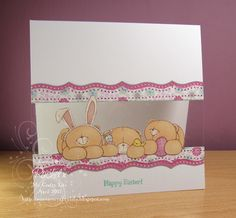 My Crafty Life: Easter, Forever Friends and. :S Handmade Easter card, Forever Friends, Clean and Simple, CAS Hand Made Greeting Cards, Making Greeting Cards, Baby Cards, Kids Cards, Scrapbook Paper Crafts, Scrapbook Cards, Forever Friends Cards, Acetate Cards, Window Cards