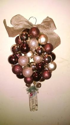 Rustic coat hanger ornament wreath