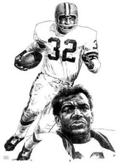 Jim Brown Cleveland Browns Lithograph Limited Edition Artwork By Michael Mellett Browns Lithograph Collection by HOFGROUP on Etsy