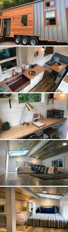The Rocky Mountain tiny house by Tiny Heirloom. A vacation home designed and built for a family of four!